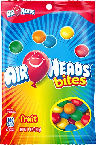 AirHeads Bites Candy Peg Bag, Fruit, Party, 6 Ounce -