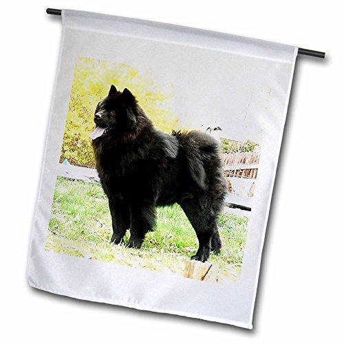 Chow Garden Flag (Dogs Chow Chow - Black Chow - 12 x 18 inch Garden Flag (fl_844_1))