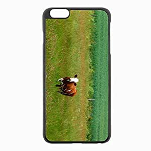 iPhone 6 Plus Black Hardshell Case 5.5inch - cows grass walk Desin Images Protector Back Cover