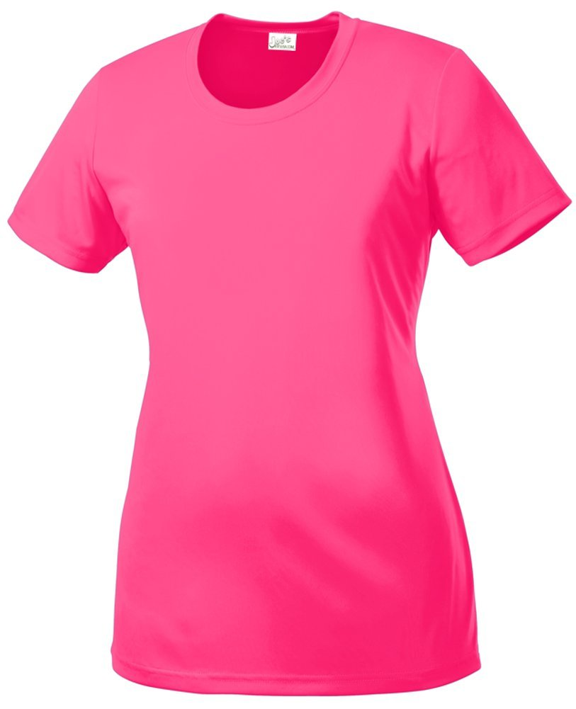 DRI-Equip(tm) Women's All Sport Neon Color High Visibility Athletic T-Shirts-L by Joe's USA