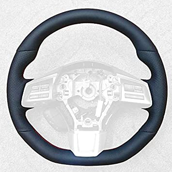 Black Alcantara-Blue Thread RedlineGoods Steering Wheel Cover Compatible with Ford F-150 2015-19