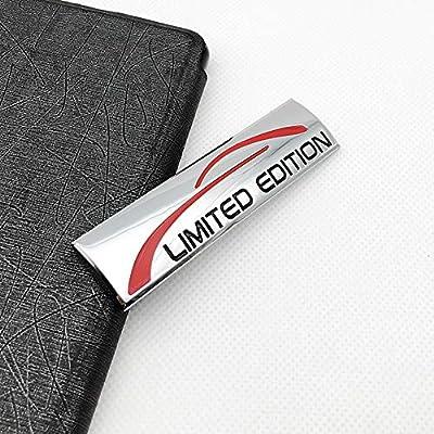 Chrome Metal Limited Edition Logo Car Emblem Premium 3D Badge Auto Rear Trunk Sticker Side Fender Decal (Silver): Automotive