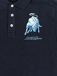 Automobili Lamborghini Mens Bull Lxlll Polo Shirt Xs Blue