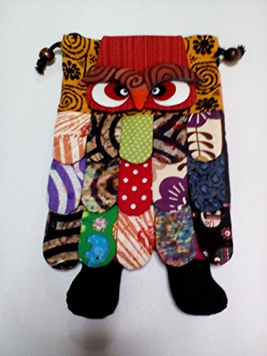 Thai Handmade Adorable Patchwork Owl Back Pack Bag Full Color ( Ayutthaya shop ) - Lowly Worm Costume