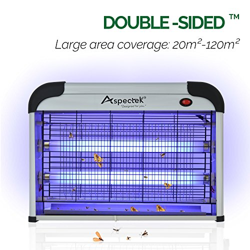 Aspectek - Fly and Insect Killer 20W UV light Attract to Zap Flying Insects Playing Excellent Role as Bug Zapper, Insect Killer, Fly Zapper, Fly Killer,...