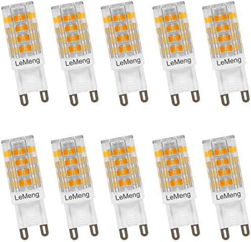 White White 2700K AC 120V Bi-Pin G9 Base LED Halogen Replacement Bulbs Not Dimmable- 6 Pack 40W Equivalent 400LM G9 Base 4W LeMeng G9 LED Light Bulb 4W