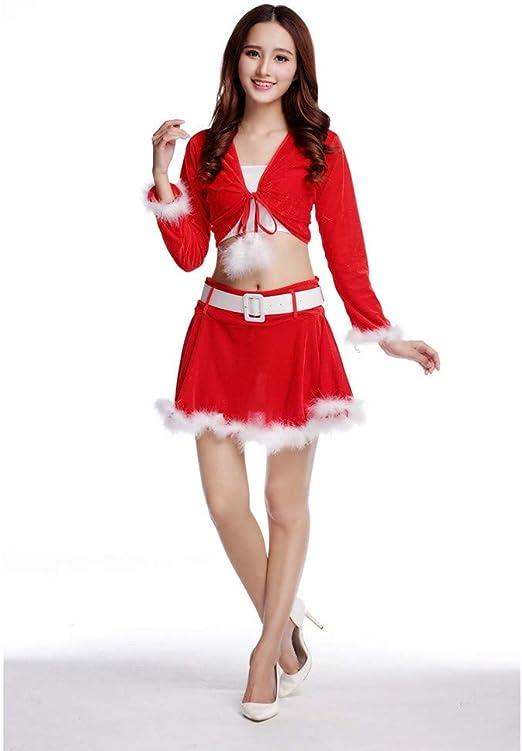 Lzhtb Disfraz De Papa Noel Mujer El Nuevo Rojo Sexy Vestido De ...