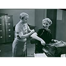 """Vintage photo of A scene from the film """"Under False Flag"""" casting by Carin Swensson with Tutta Rolf."""