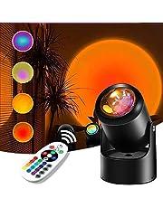Sunset Lamp, Sunset Projection Lamp 16 Kolorów,Można go Obrócić o 180 °, aby Stworzyć Romantyczną Atmosferę, Odpowiednią Dla rodziny, Festiwal, Transmisji na żywo, Randek, Prezentów, Imprez itp
