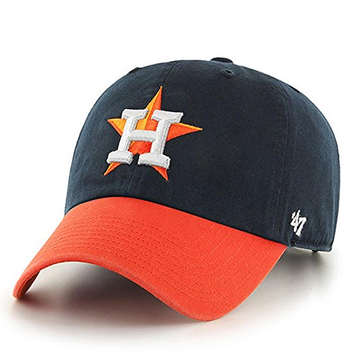 MLB Houston Astros 47 Brand Clean Up Adjustable Cap-2013 Road Style, One Size, Navy