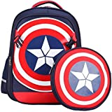 Large Marvel American Captain's Schoolbag Primary School Boys Backpack Children's Reduced Shoulder Bag Small