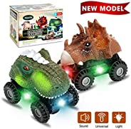 Niskite Dinosaur Toys for 2 3 4 Year Olds Boys, Dinosaur Car for Kids Toddler,Best Gifts for 5-8 Year Old Boy,
