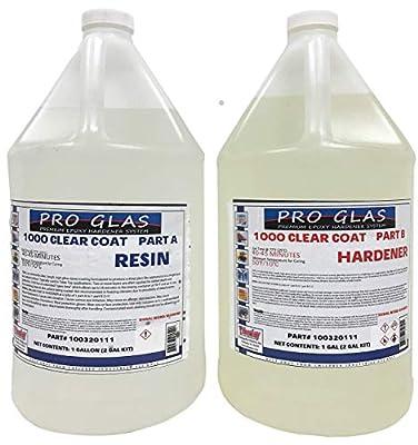 Table Bar Top Clear Epoxy Resin - ProGlas 1000 - 2 Gallon Kit
