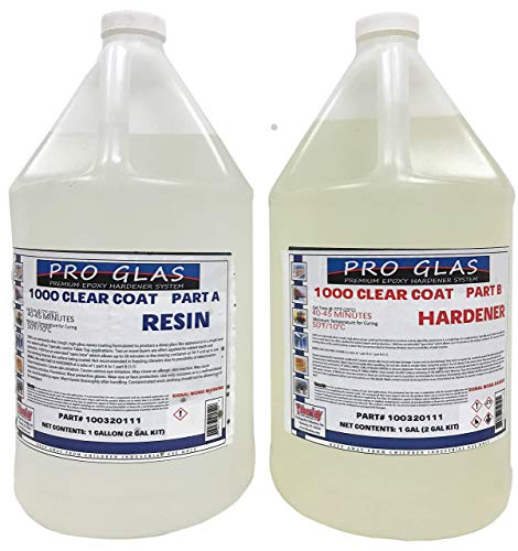 ProGlas 1000 Table Bar Top Clear Epoxy Resin - 2 Gallon Kit (Tabletop Epoxy Resin)