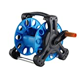 Wall Mount Portable Rotating Water Hose Reel Cart with Bracket Holder by MUITOBOM