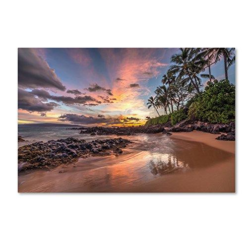 Hawaiian Sunset Wonder by Pierre Leclerc, 22×32-Inch Canvas Wall Art
