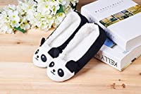LA PLAGE Women's Winter Warm Plush Animal Home Slippers