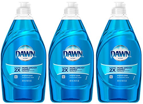 Price comparison product image Dawn Dish Soap, Ultra Dishwashing Liquid, Original, 14.6 Ounce, (Pack of 3)
