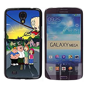 Caucho caso de Shell duro de la cubierta de accesorios de protección BY RAYDREAMMM - Samsung Galaxy Mega 6.3 I9200 SGH-i527 - Family Character Arrow Fight