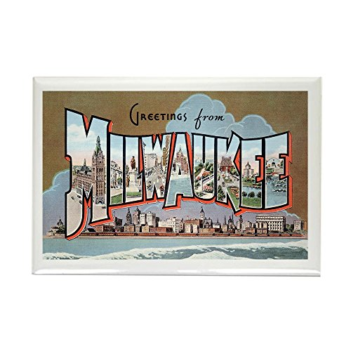 CafePress - Milwaukee Wisconsin Greetings - Rectangle Magnet, 2