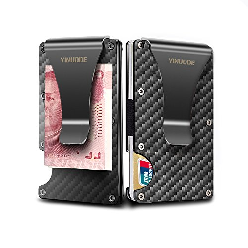Carbon Fiber Credit Card Holder RFID Blocking Anti Scan Meta