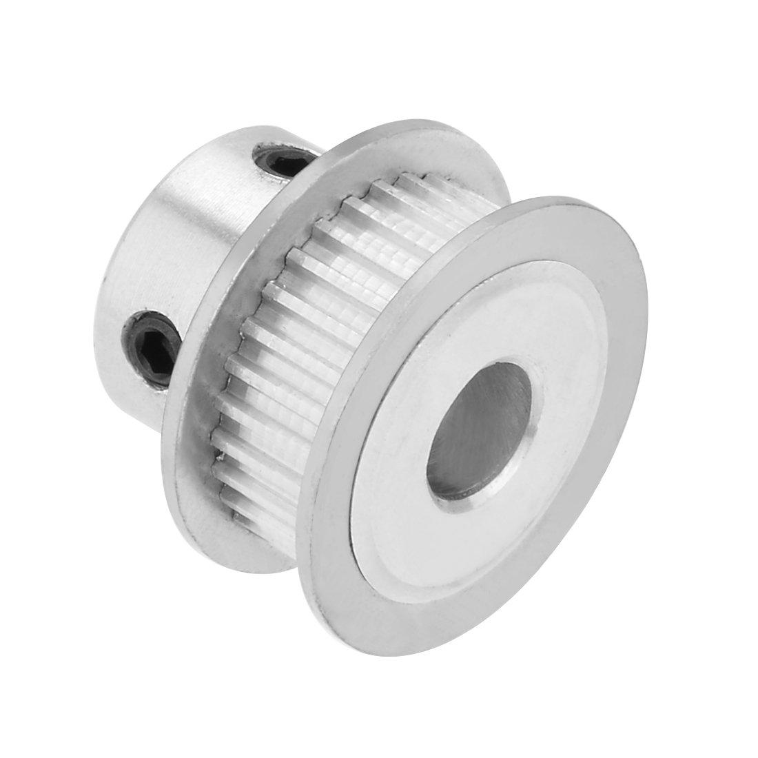 uxcell Aluminum MXL 25 Teeth 7mm Bore Timing Belt Idler Pulley Flange Synchronous Wheel for 6mm Belt 3D Printer CNC
