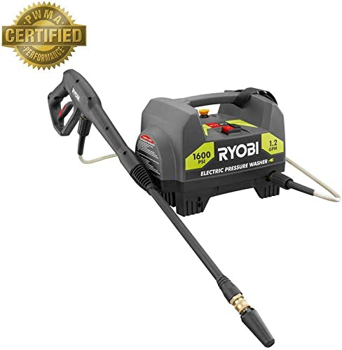 Ryobi 1,600-PSI 1.2-GPM Electric Pressure Washer Model RY141612