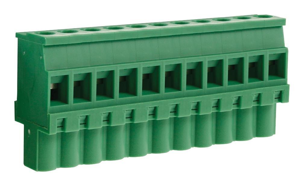 Reversed CAMDENBOSS CTBP92VJ//11R Pluggable Terminal Block 14 AWG Clamp 5.08 mm 11 Positions 28 AWG 1.5 mm?