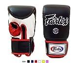 Fairtex Muay Thai Bag Boxing Gloves TGO3 Black/white/red Size L Training gloves for Kickboxing MMA K1