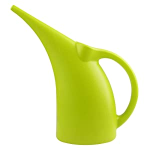 MyLifeUNIT Plastic Watering Can, Elegant Watering Pot, 1/2-Gallon (Green)