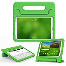 Samsung Galaxy Tab E 9.6 kids case, COOPER DYNAMO Rugged Heavy Duty Children's Boys Girls Bumper Drop Proof Protective Carry Case Cover + Handle, Stand & Screen Protector for SM-T560 T561 Green