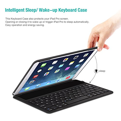 LEVREA iPad Pro 10.5 Keyboard Case, Ultra-Thin Lightweight Bluetooth Keyboard with Magnetically Intelligent Switch and Multi-Angle for Apple iPad Pro 10.5 inch by LEVREA (Image #1)