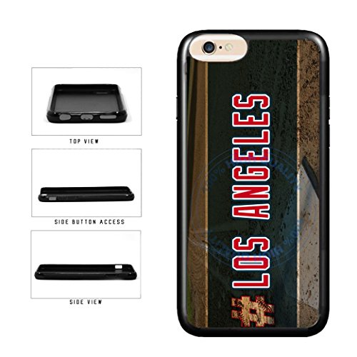 BleuReign(TM) Hashtag Los Angeles #LosAngeles Anaheim Baseball Team TPU RUBBER SILICONE Phone Case Back Cover For Apple iPhone 6 Plus and iPhone 6s Plus (5.5 Inches (Anaheim White Baseball)