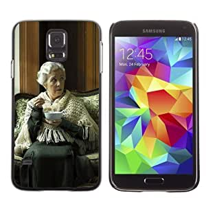 Licase Hard Protective Case Skin Cover for Samsung Galaxy S5 - Funny Old Woman