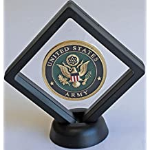 3D Floating Frame, Shadow Box, Medallion Medal Challenge Coin Chip Display Case Stand Holder Magic Suspension Box CN14