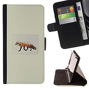 Momo Phone Case / Flip Funda de Cuero Case Cover - Fox Forrest;;;;;;;; - Samsung Galaxy Note 5 5th N9200