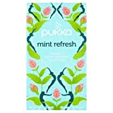 Pukka Herbal Teas Refresh Organic Peppermint Fennel and Rose Tea – Caffeine Free – 20 Bags, 20 Count For Sale