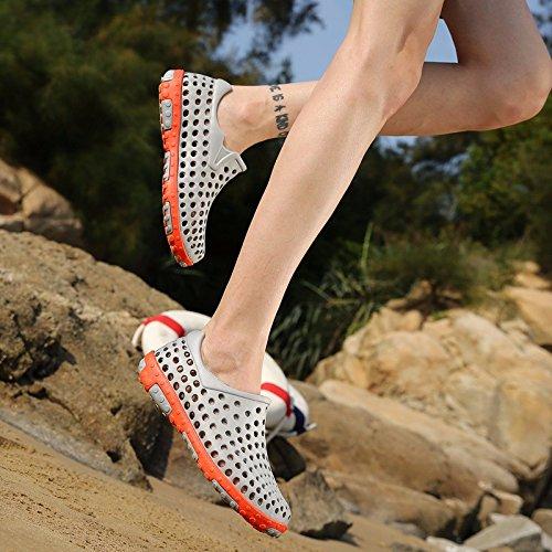 Sommer Das neue Freizeit Sandalen Männer Trend Atmungsaktiv Lochschuhe Rutschfest Strandschuhe Jugend Trendschuhe ,grau,US=9.5?UK=9,EU=43 1/3?CN=45