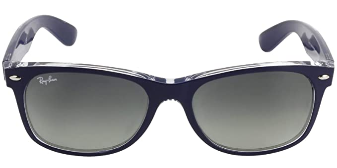 c71411a782ac7 RAY BAN RB2132 605371 55MM MATTE BLUE NEW WAYFARER SUNGLASSES  Amazon.es   Ropa y accesorios
