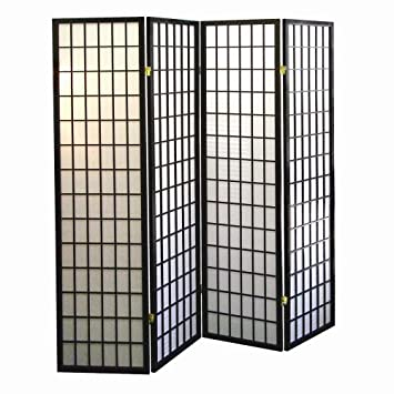 Amazoncom ORE International Panel Shoji Screen Room Divider - 4 panel room divider