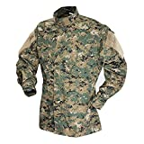 Tru-Spec TAC T.R.U.Shirts 50/50 Nylon/Cotton Rip-Stop, Digital Woodland, 3XLarge Long 1389028
