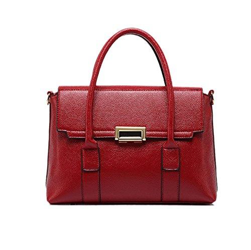 Main Grande Bandoulière Europe Mode Style Red Femme Amérique Simple Et Sac Incliné Nouveau Simplicité Capacité À Pn0q6