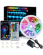Bluetooth Led Strip Lights, 20ft Smart APP Control Music Sync Color Changing RGB Rope Lights SMD5050 with IR Remote Controller for Bedroom Kitchen Ceiling TV Bar Party