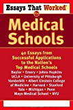 Essays That Worked for Medical Schools, Emily Angel  Baer and Stephanie B. Jones, 0345450442