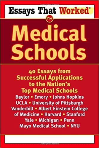 essays that worked for medical schools essays from successful  essays that worked for medical schools 40 essays from successful applications to the nation s top medical schools emily angel baer stephanie b jones
