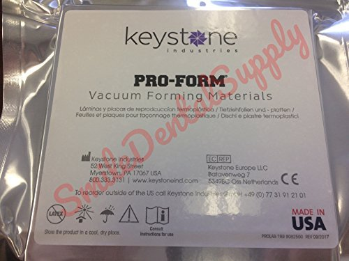 Dental Laboratory Laminate Vacuum Forming SPLINT .030 (thin) .8mm Pack /25 PROFORM