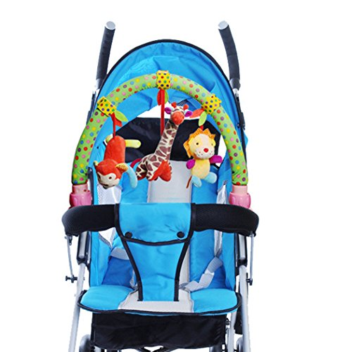 skk baby musical stroller crib activity bar toys car seat arch hanging rattle toy gift for. Black Bedroom Furniture Sets. Home Design Ideas