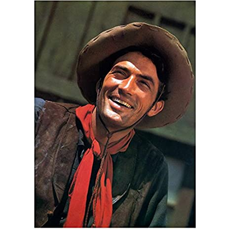 Gregory Peck 8x10 Photo To Kill a Mockingbird Moby Dick Roman Holiday Cowboy  Hat Red Kerchief Smiling kn at Amazon s Entertainment Collectibles Store 42b5f9823bf