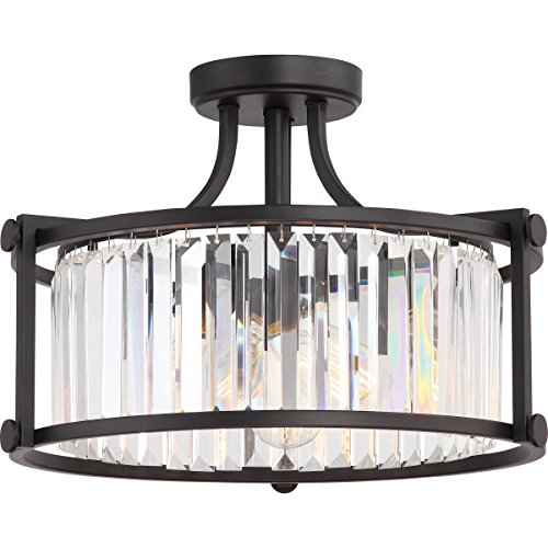 8-Light Sherwood Chandelier Clear Glass - Iron Black with Brushed Nickel Accents Finish (Bulbs Included) - Set of 1