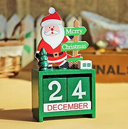huaji christmas countdown wooden calendar christmas decoration